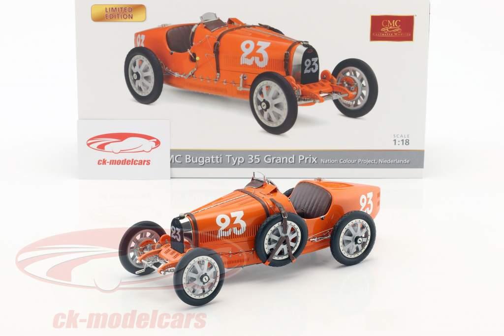 Bugatti tipo 35 Grand Prix #23 Nation Colour Project Paesi Bassi 1:18 CMC