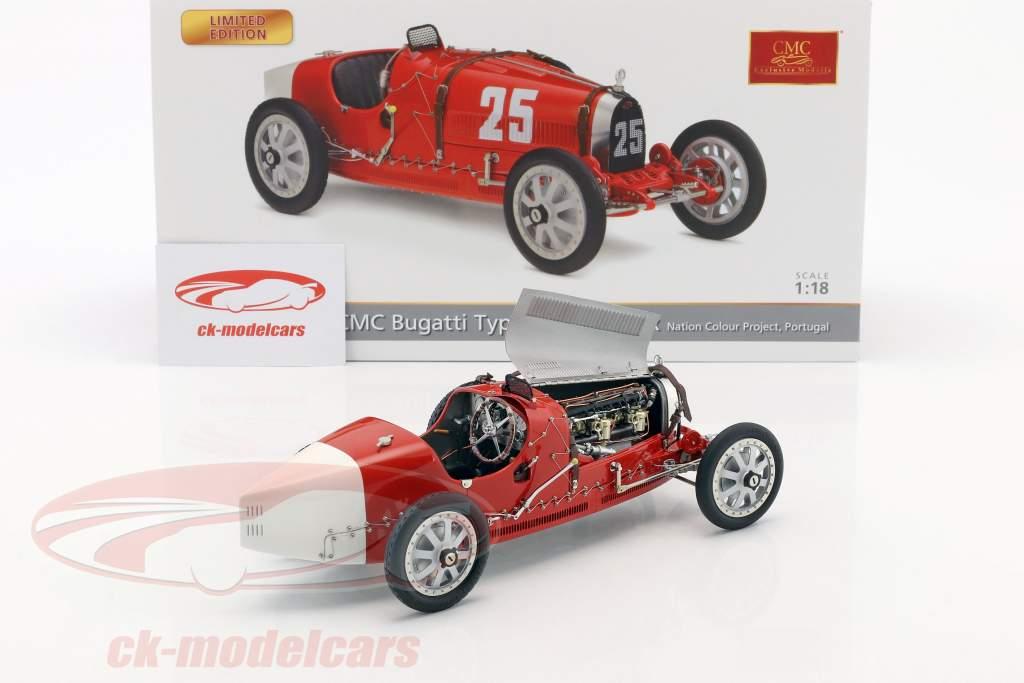 Bugatti tipo 35 Grand Prix #25 Nation Colour Project Portogallo 1:18 CMC