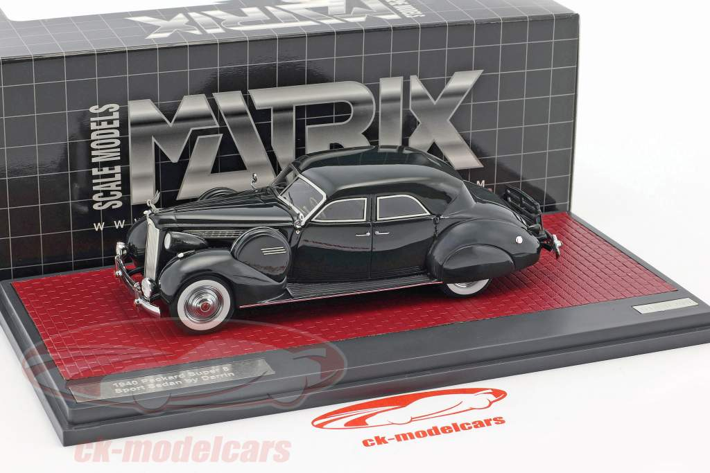 Packard Super 8 Sport Sedan by Darrin Baujahr 1940 dunkelgrün 1:43 Matrix