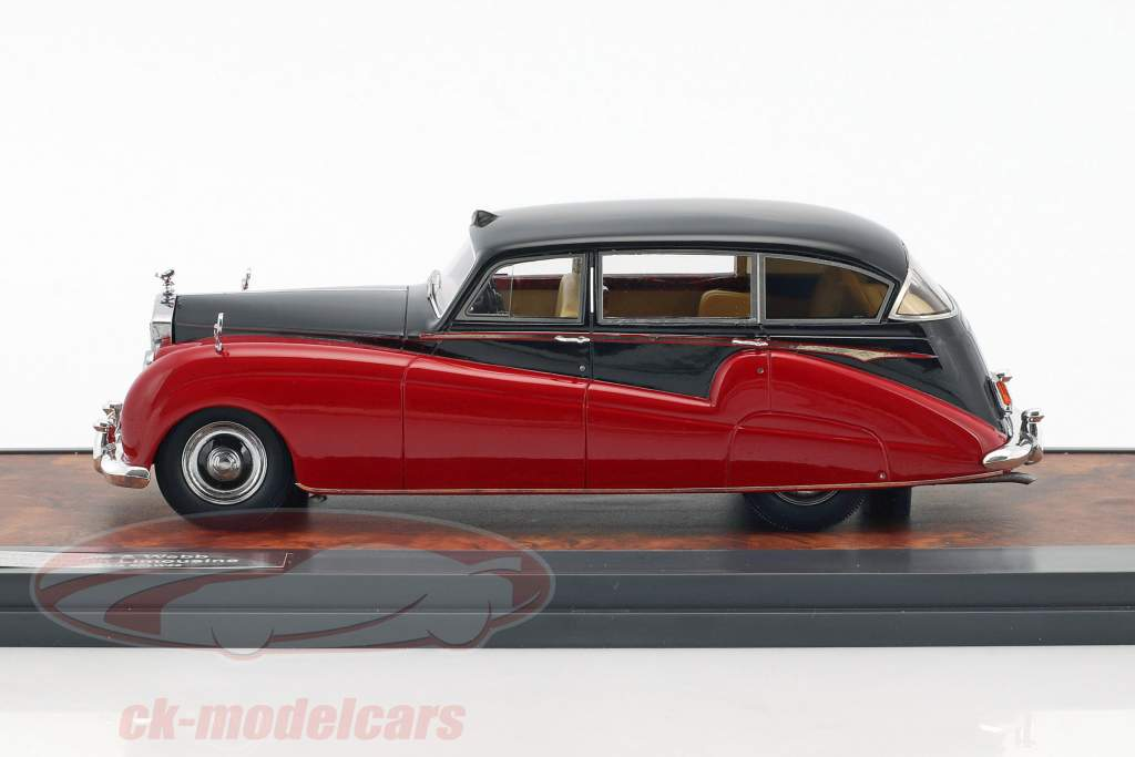 Rolls Royce Freestone & Webb Silver Wraith berlina anno di costruzione 1957 nero / rosso 1:43 Matrix