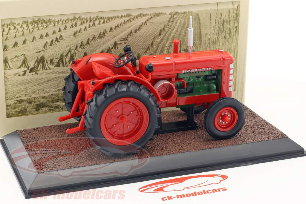Bolinder Munktell 470 Bison tractor year 1964 red 1:32 Atlas