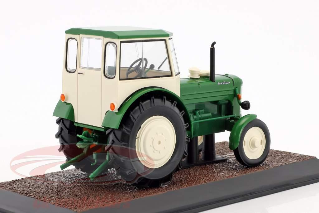 Zetor 50 Super trattore anno di costruzione 1966 verde / bianco 1:32 Atlas