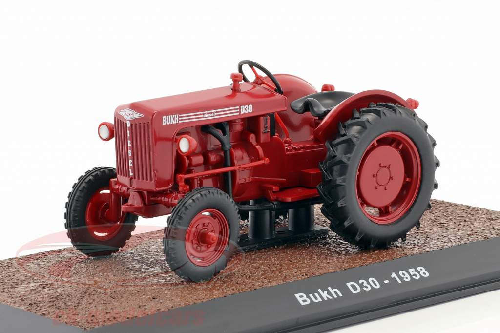 Bukh D30 trattore anno di costruzione 1958 rosso 1:32 Atlas