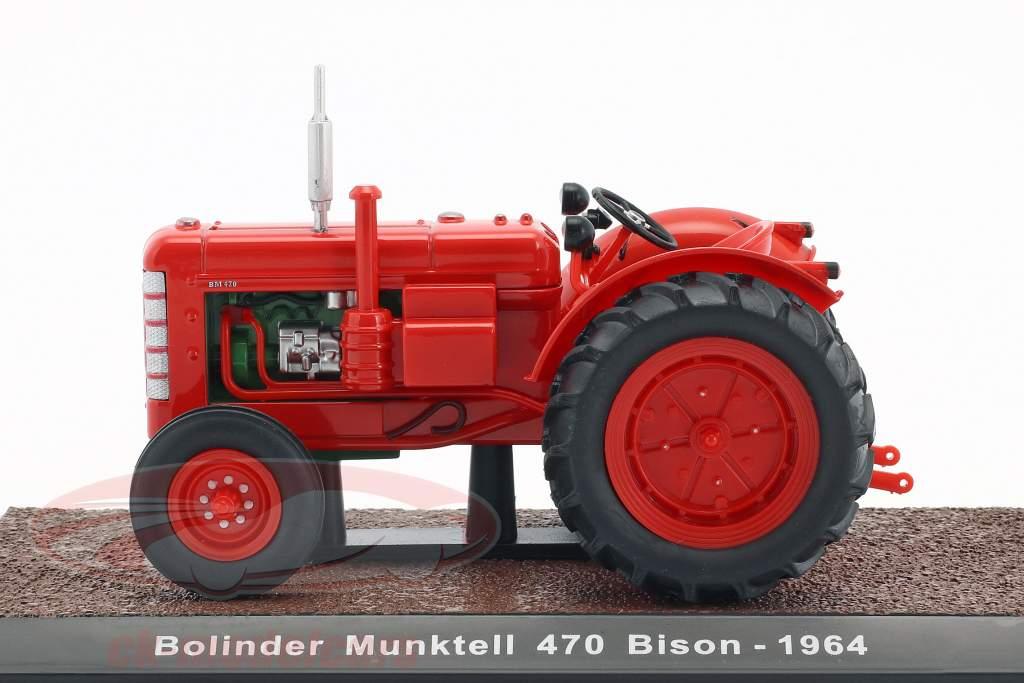 Bolinder Munktell 470 Bison trattore anno di costruzione 1964 rosso 1:32 Atlas