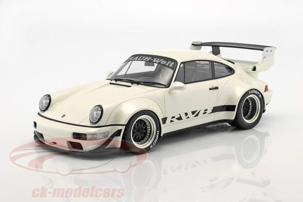 Porsche 911 (964) RWB pearl white 1:12 GT-Spirit