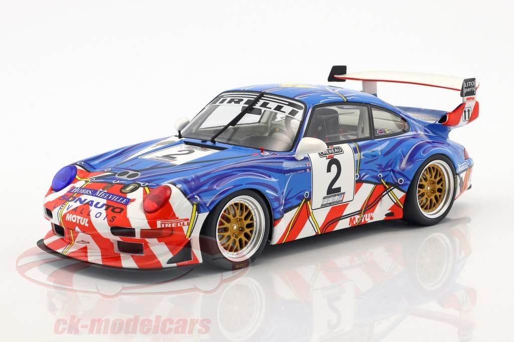 Porsche 911 (993) GT2 #2 2 French GT Championship 1997 Jarier, Lafon 1:18 GT-Spirit