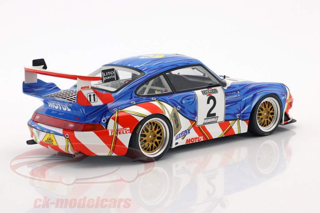 Porsche 911 (993) GT2 #2 2 ° French GT Championship 1997 Jarier, Lafon 1:18 GT-Spirit