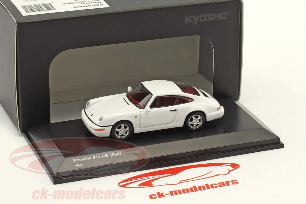 Porsche 911 (964) RS bianco 1:64 Kyosho
