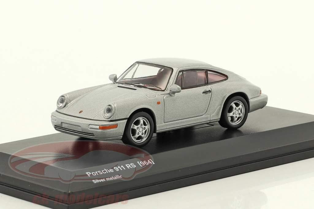 Porsche 911 (964) RS silver metallic 1:64 Kyosho