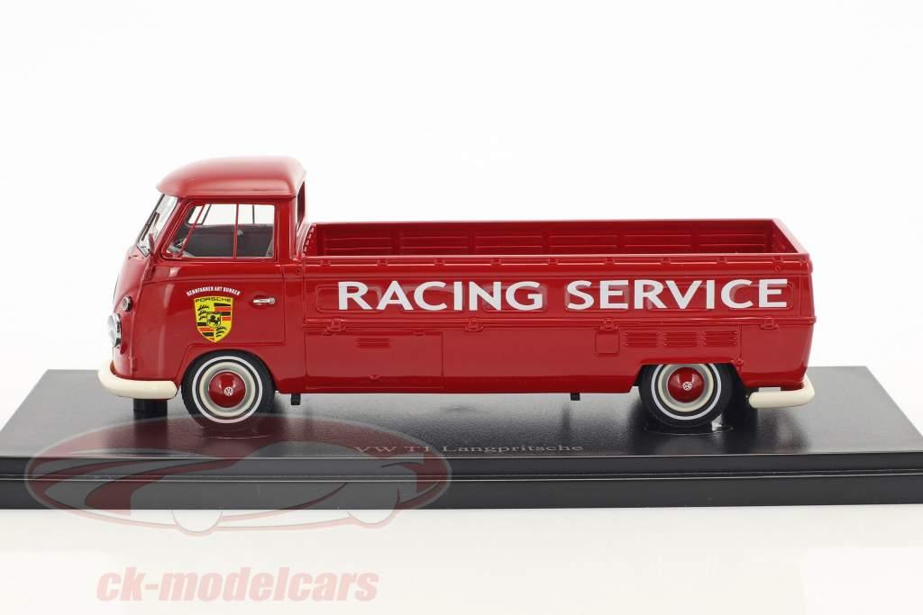 Volkswagen VW T1 Langpritsche Porsche Racing Service rot 1:43 AutoCult