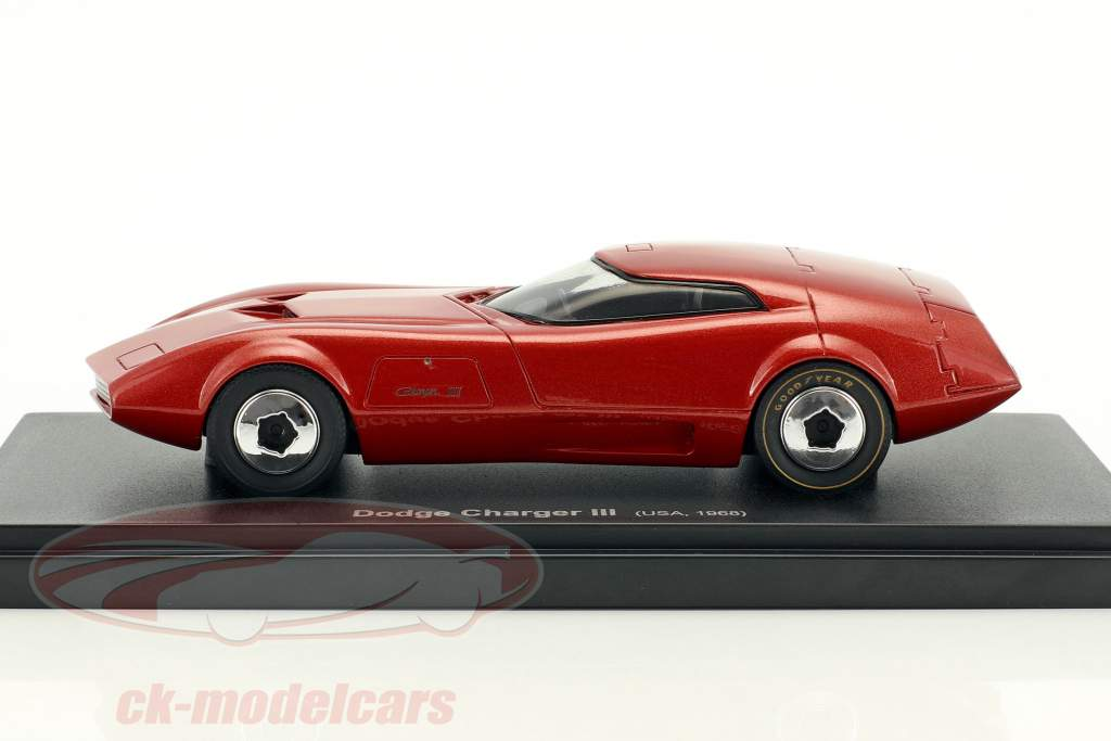 Dodge Charger III Baujahr 1968 rot 1:43 AutoCult