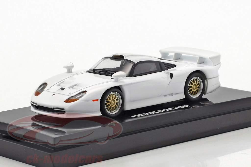 Porsche 911 GT1 anno di costruzione 1997 bianco 1:64 Kyosho