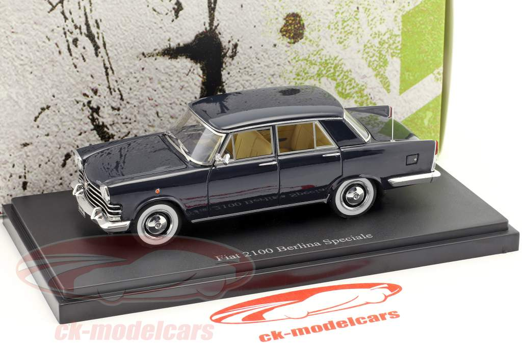 Fiat 2100 Berlina Speciale year 1959 dark blue 1:43 AutoCult