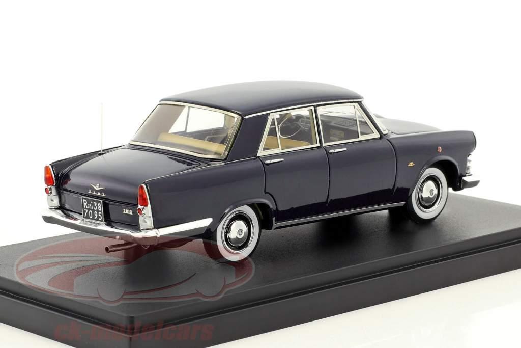 Fiat 2100 Berlina Speciale Baujahr 1959 dunkelblau 1:43 AutoCult