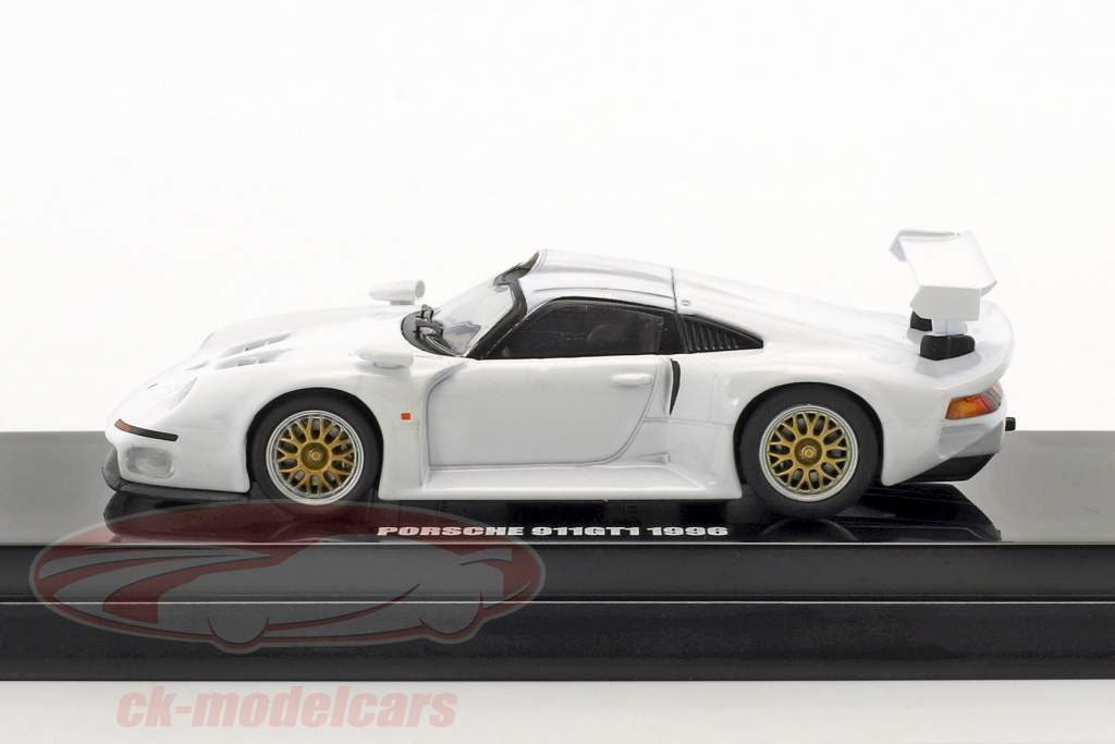 Porsche 911 GT1 anno di costruzione 1996 bianco 1:64 Kyosho