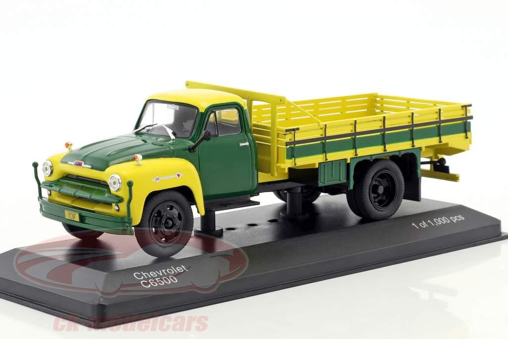 Chevrolet C6500 année de construction 1958 jaune / vert 1:43 WhiteBox