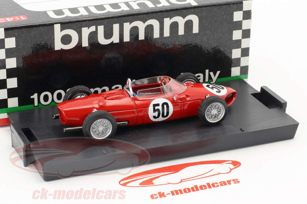 Giancarlo Baghetti Ferrari Dino 156 F1 #50 gagnant français GP formule 1 1961 1:43 Brumm