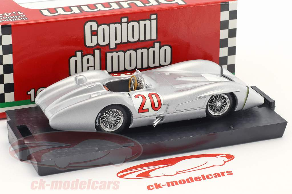 Stirling Moss Mercedes W196C #20 Test Monza Formel 1 1955 1:43 Brumm