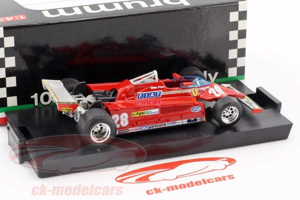 Didier Pironi Ferrari 126CK #28 4th Monaco GP Formel 1 1981 1:43 Brumm