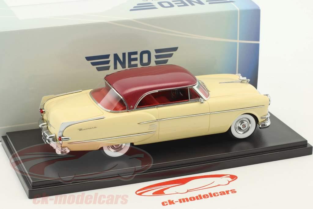Packard Pacific Hardtop coupé année de construction 1954 beige / sombre rouge métallique 1:43 Neo