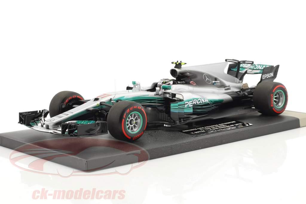 Valtteri Bottas Mercedes F1 W08 EQ Power  #77 1er victoire Russian GP  F1 2017 1:18 Minichamps