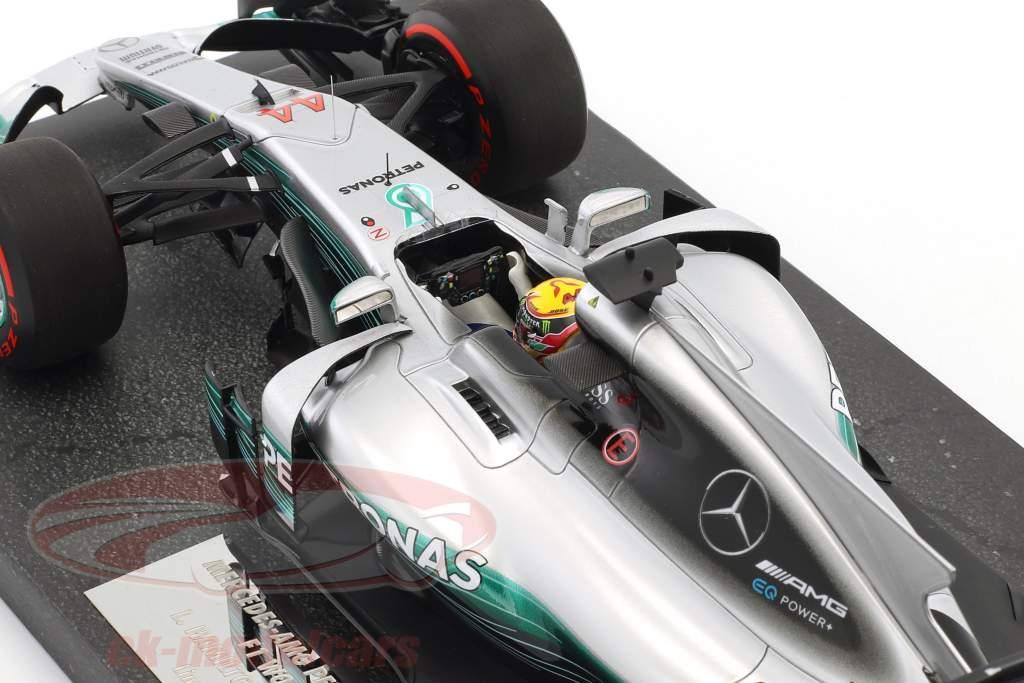 Lewis Hamilton Mercedes F1 W08 EQ potere  #44 4 ° russo GP campione del mondo F1 2017 1:18 Minichamps