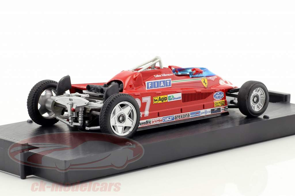 Gilles Villeneuve Ferrari 126CK #27 Winner monaco GP formula 1 1981 Transport version 1:43 Brumm