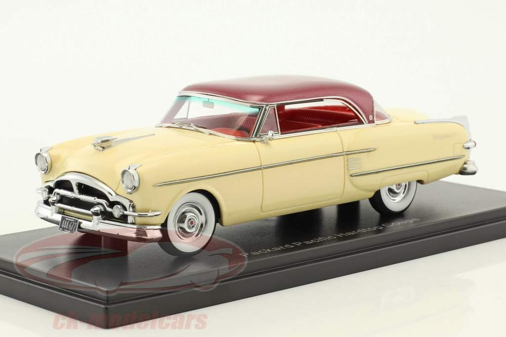 Packard Pacific Hardtop coupe year 1954 beige / dark red metallic 1:43 Neo