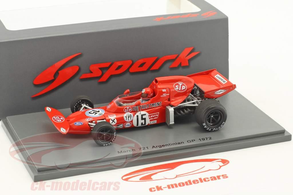 Niki Lauda March 721 #15 Argentinien GP Formel 1 1972 1:43 Spark