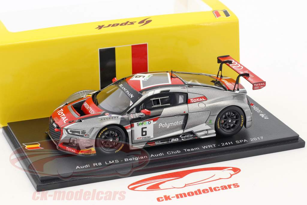Audi R8 LMS #6 24h Spa 2017 Belgian Audi Club Team WRT 1:43 Spark