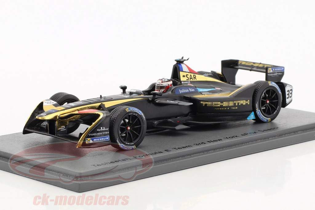 S. Sarrazin Techeetah Renault Z.E.16 #33 New York ePrix formule E 2016/17 1:43 Spark