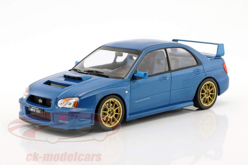 Subaru Impreza WRX STi Tune S9 specs Construction year 2003 blue metallic 1:18 Ixo