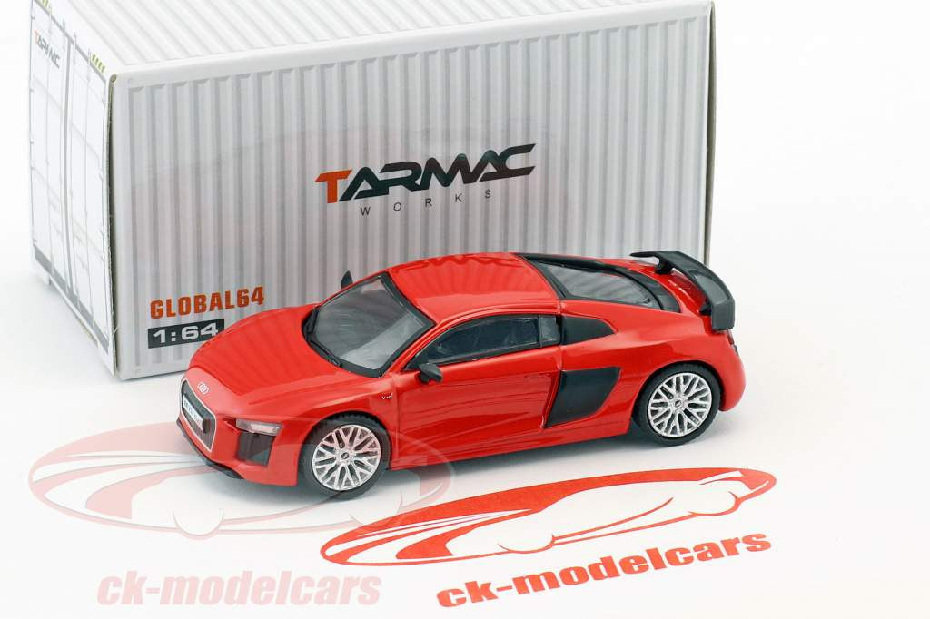Audi R8 V10 Plus dynamit rot 1:64 Tarmac Works