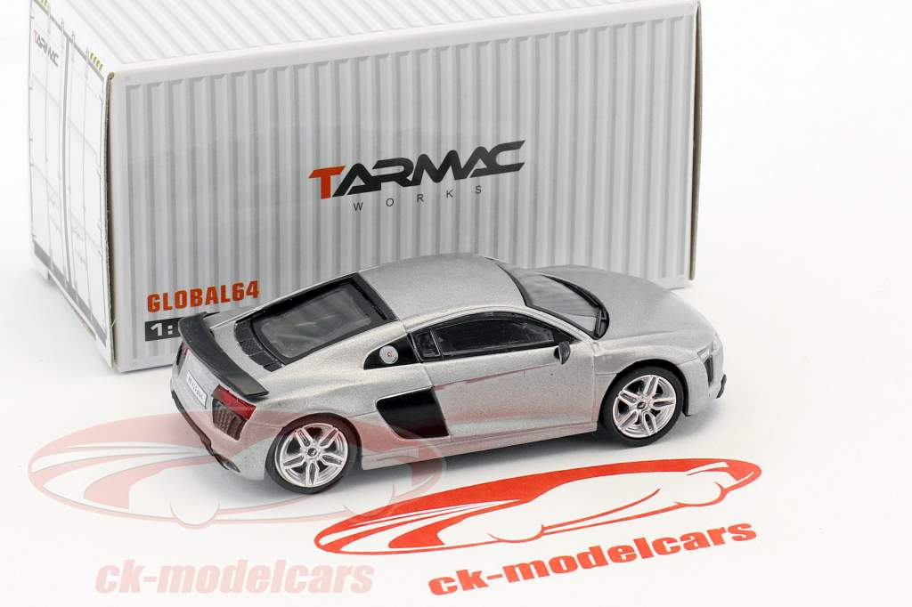 Audi R8 V10 Plus matt silver 1:64 Tarmac Works