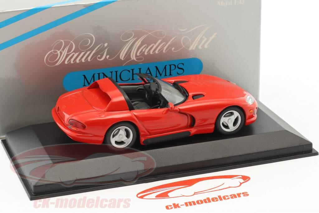 Dodge Viper Cabriolet anno 1993 rosso 1:43 Minichamps