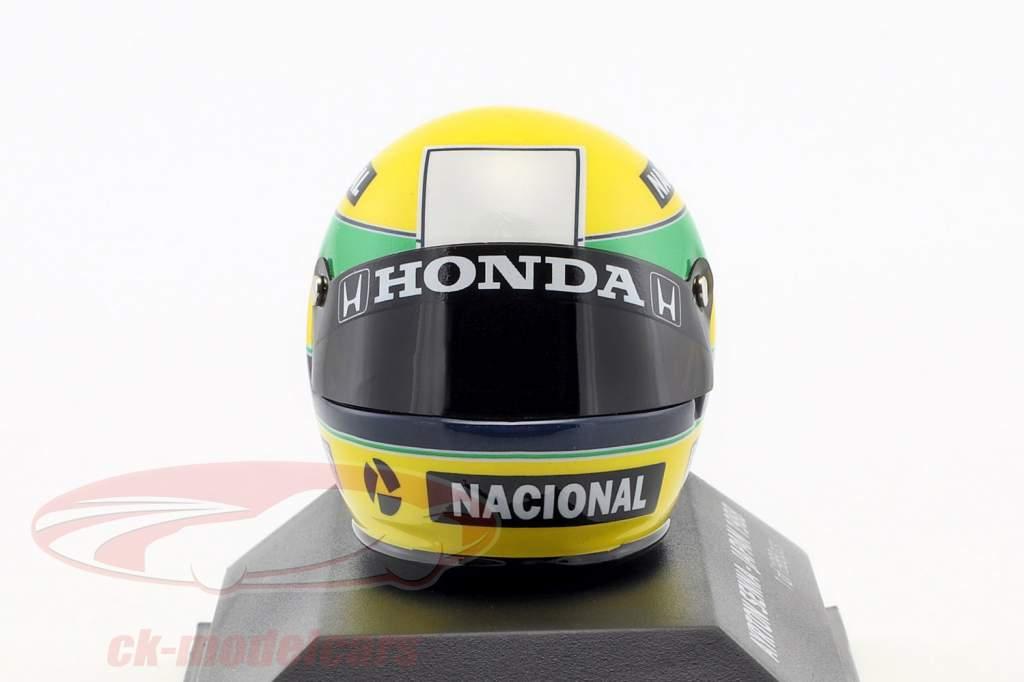 Ayrton Senna McLaren MP4/4 World Champion Japan GP F1 1988 helmet 1:8 Minichamps