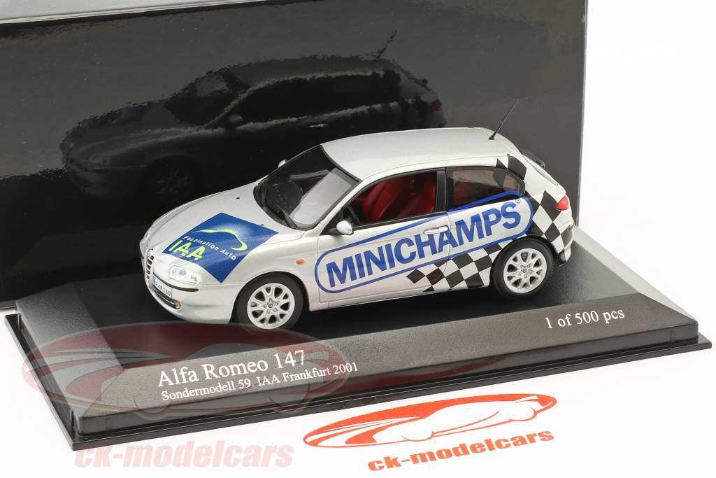 Alfa Romeo 147 édition spéciale 59. IAA Frankfurt 2001 argent 1:43 Minichamps