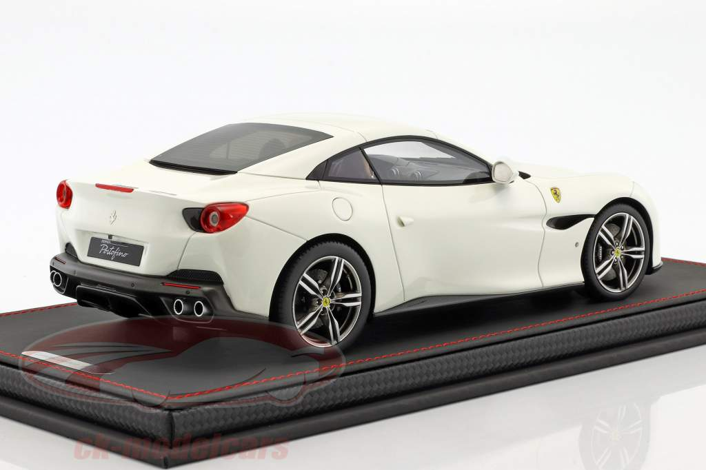 Ferrari Portofino year 2017 white 1:18 BBR