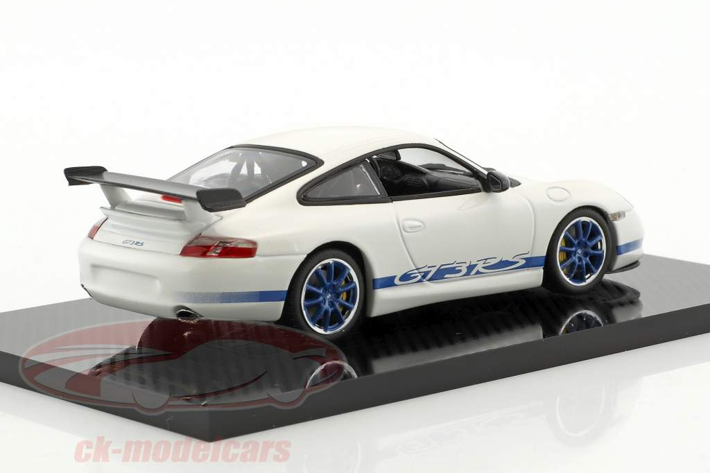 Porsche 911 (996) GT3 RS white / blue 1:43 Minichamps