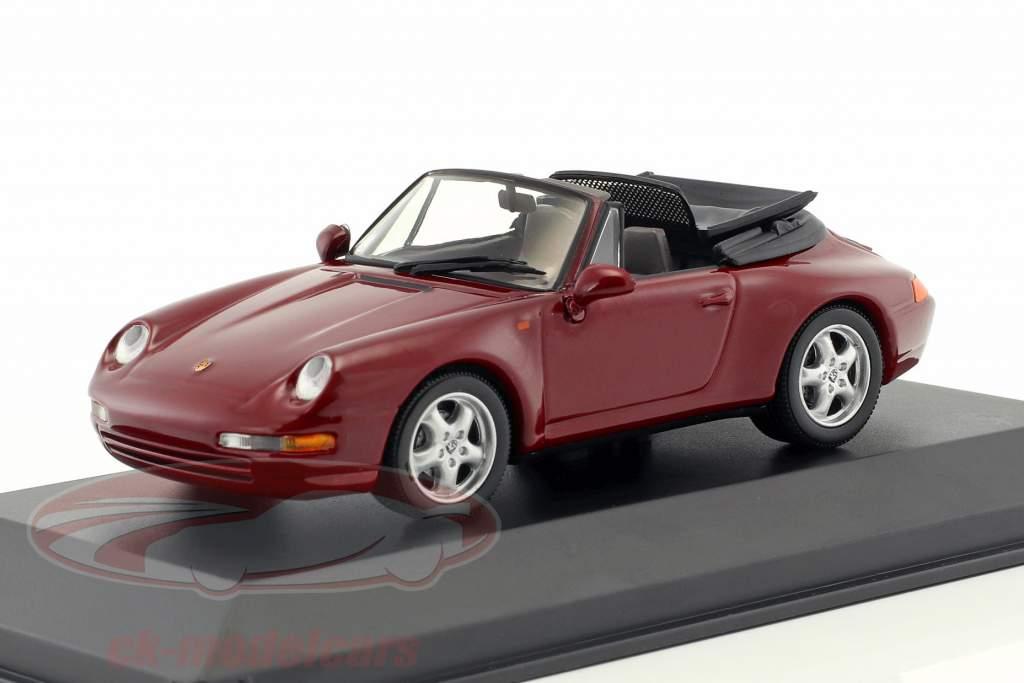 Porsche 911 Cabriolet anno 1994 arena rosso 1:43 Minichamps