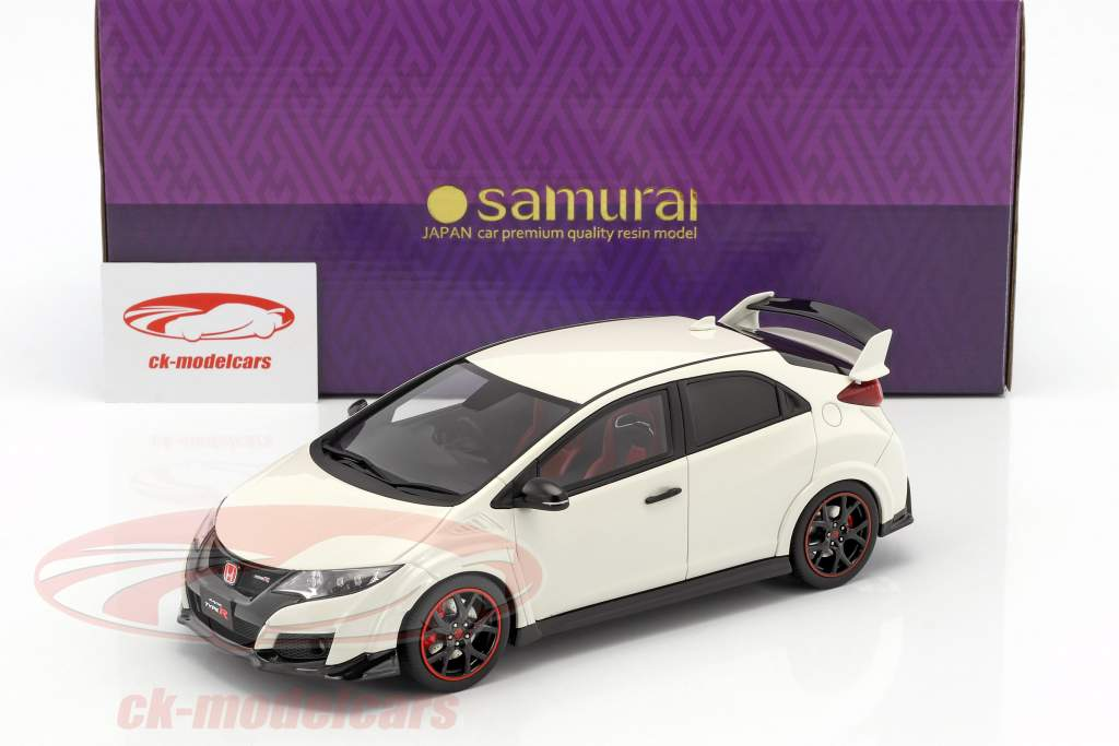 Honda Civic Type R year 2015 white 1:18 Kyosho