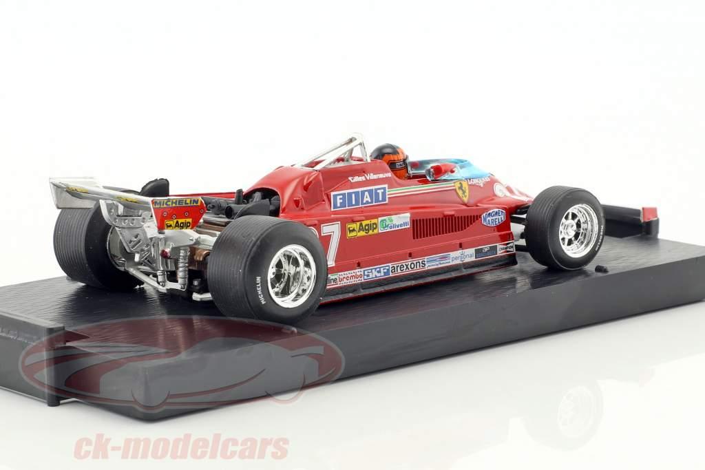 Gilles Villeneuve Ferrari 162CK #27 3 canadien GP formule 1 1981 tour 39-54 1:43 Brumm