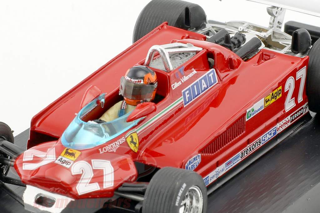 Gilles Villeneuve Ferrari 162CK #27 3 ° canadese GP formula 1 1981 grembo 57-63 1:43 Brumm