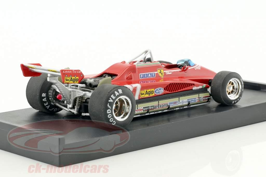 Gilles Villeneuve Ferrari 162C2 #27 Brésil GP formule 1 1982 1:43 Brumm