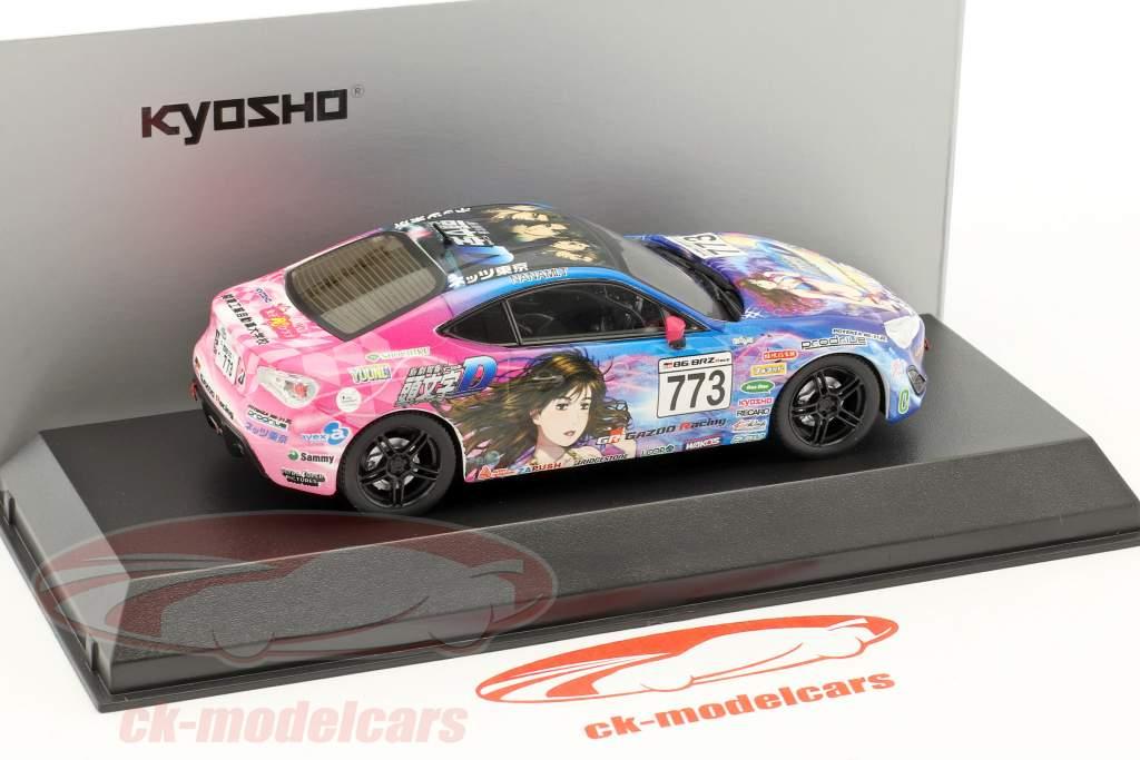 Toyota 86 #773 Initial D JKB 86 anno di costruzione 1986 blu / rosa 1:43 Kyosho