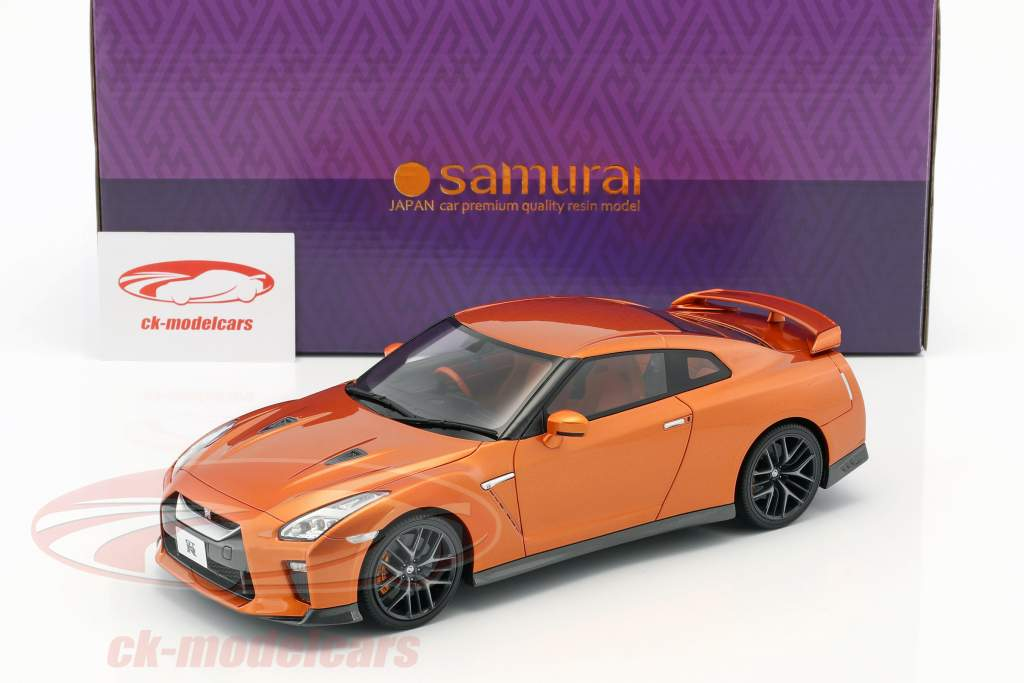 Nissan GT-R R35 orange métallique 1:18 Kyosho
