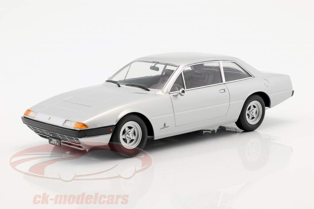 Ferrari 365 GT4 2+2 anno 1972 argento 1:18 KK scala