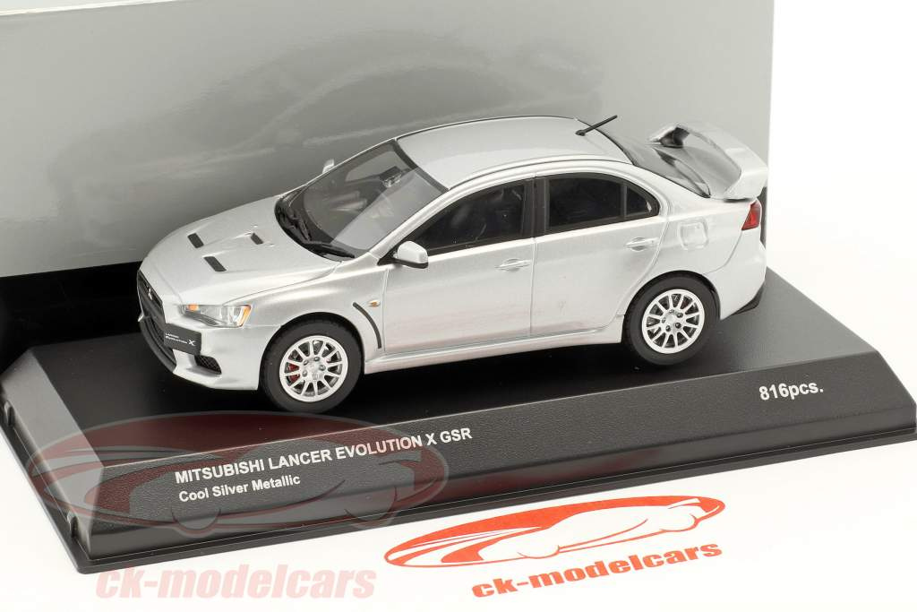 Mitsubishi Lancer Evo X GSR argento metallico 1:43 Kyosho