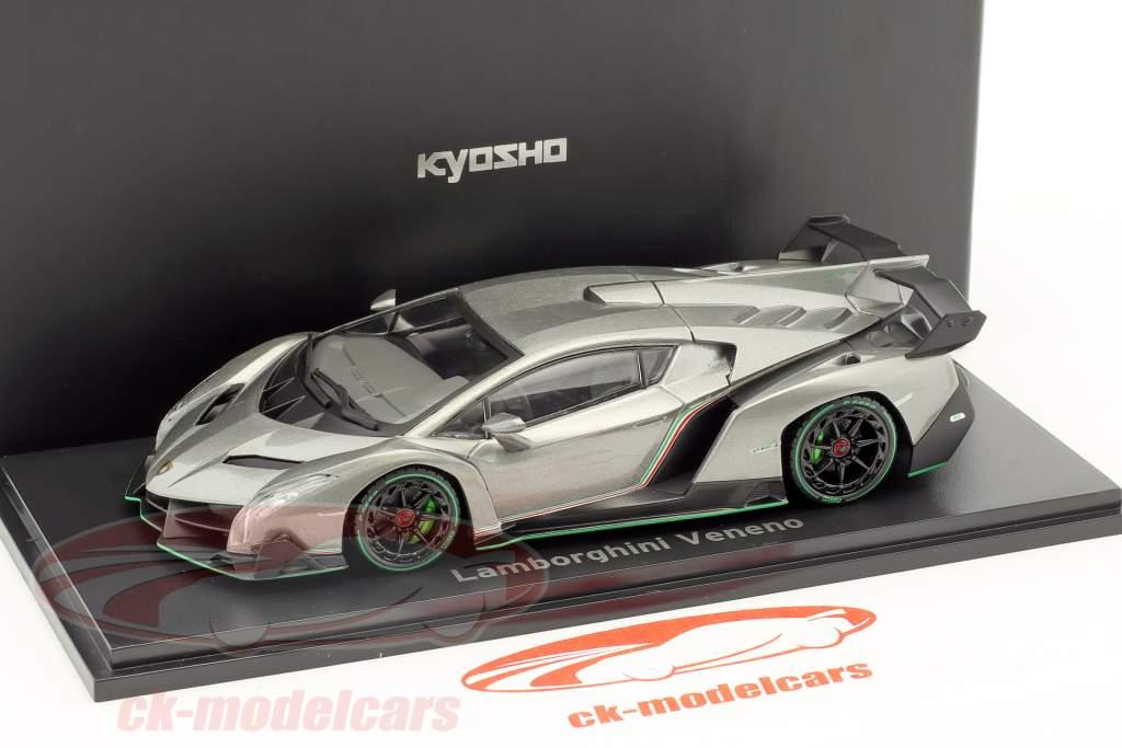 Lamborghini Veneno year 2014 gray / green 1:43 Kyosho