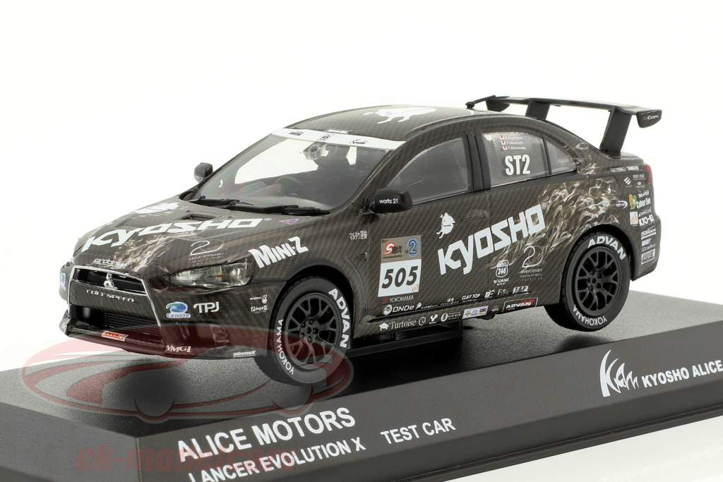 Mitsubishi Lancer Evo X #505 Test Car Alice Motors 2011 1:43 Kyosho